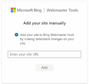 Add a Site to Bing Webmaster Tools