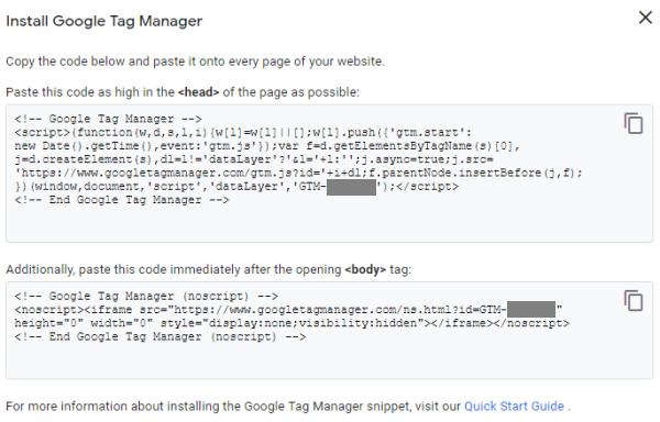 GTM Sample Code