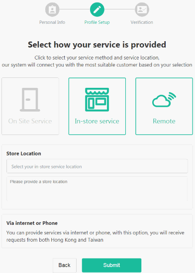 In-store Service, Remote (HelloToby)