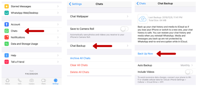 iPhone Whatsapp Chat History Backup