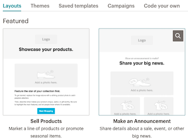 Email templates layout (Mailchimp)