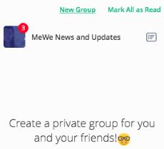 MeWe Create New Group