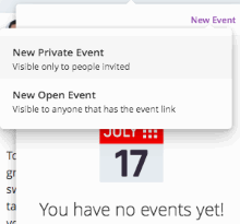 Create Private or Public Event - MeWe