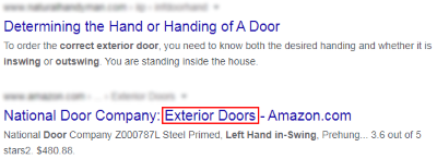 No exact keywords in page titles