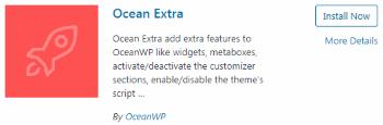 Ocean Extra - Plugin Installation