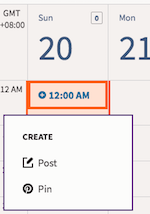 Select Post Date on Scheduling Calendar (Hootsuite)