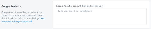 Shopify - Google Analytics Add tracking Code
