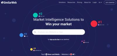 Similarweb homepage