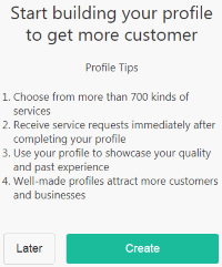 Start Building Profile (HelloToby)