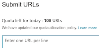 URL Submission Tool (Bing Webmaster Tools)