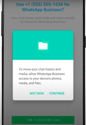 Use mobile number on Whatsapp Business