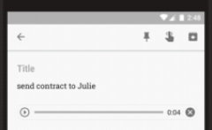 Voice message recorded in Google Keep