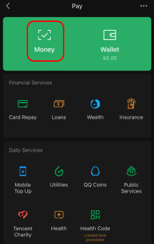 WeChatPay Pay Screen Select Money