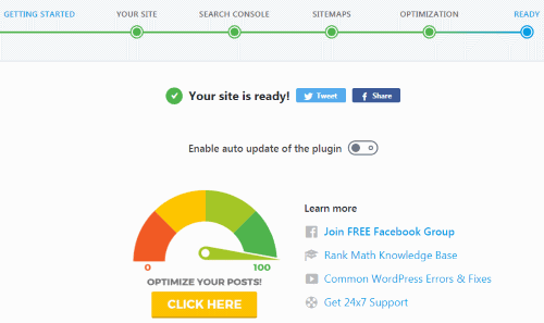 Your Site is ready! (Rank Math Setup)