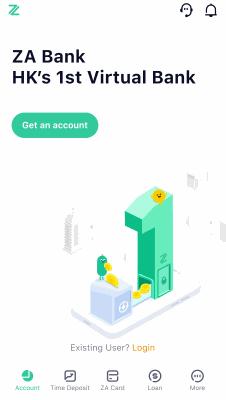 HK ZA Bank App - Open Virtual Bank Account
